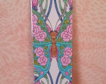 Bookmark - Butterfly flower