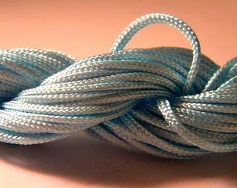12 M Fil macrame Shamballa-blue-clear AL 2 2 mm nylon cord