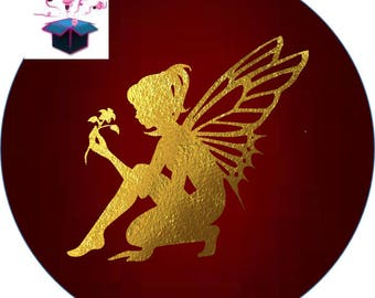 themed fairy 25 mm glass cabochon