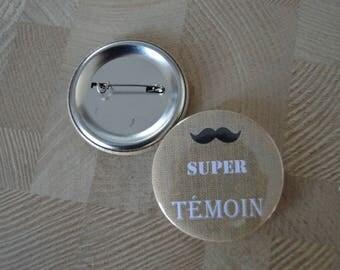 Bottle opener / Keychain with custom icon mustache 50 mm