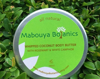Whipped Coconut Body Butter with Rosemary & White Camphor (100ml)