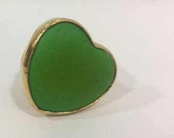 Magnesite dyed green ring.