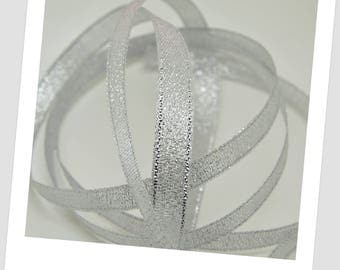 1 roll of 22 - silver grey - 10mm organza Ribbon