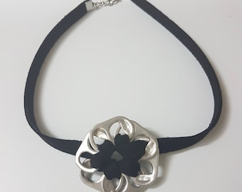 Recycled Pop tab Flower Choker Necklace