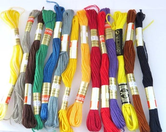 To enter!  14 cotton embroidery floss in assorted colors