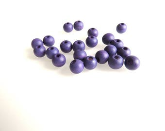 V, purple beads 8 mm X 20 Pack