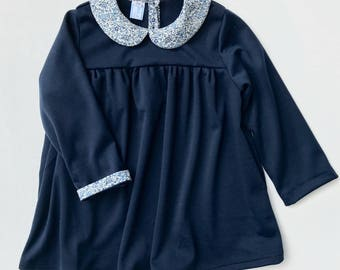 3/4 years - mesh Liberty Katie & Millie Peter Pan collar dress