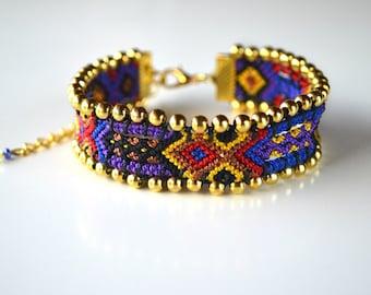 "Brazilian dish ""Bohemian"" (OOAK) bracelet"
