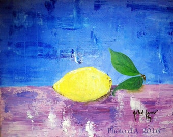 "painting ""Lemon"""