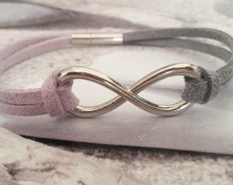 Silver Infinity bracelet and its hues