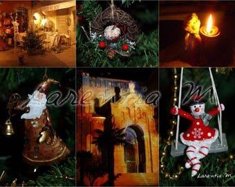 Photo 30X40cm jumble of Christmas themed