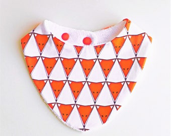 0/24 months organic bandana bib Triangle Fox ❀ ❀