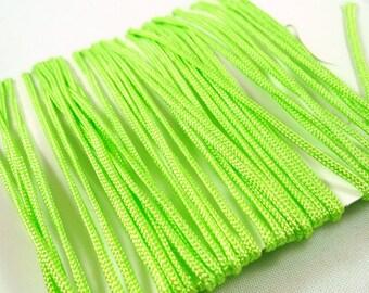 Apple 5 m green nylon cord macrame shamballa 1 mm (systems12)