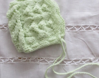 Lime green newborn Hat