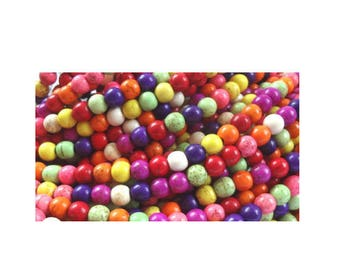 colorful Howlite 6 mm 50 beads