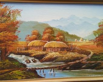 Original Unknown Artist. Looks like a village scene