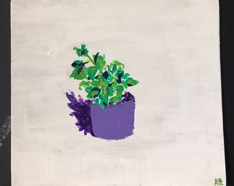 Plant-tastic! Small Plant Painting/ Wooden Wall Art