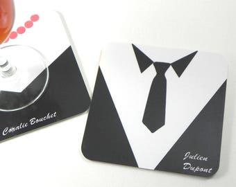 Square coasters personalized coaster coaster male costume brand name
