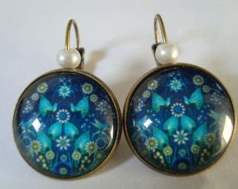 Earrings sleepers bronze