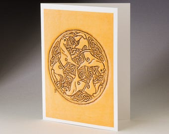 Circle of Horses Art Card