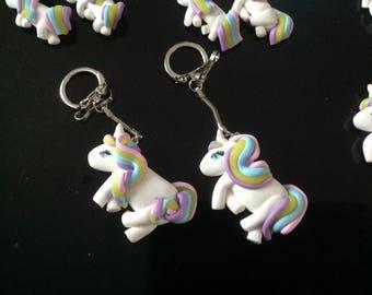 Pastel Unicorn keychain