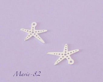 1 10 mm - Mini charm - sterling silver starfish