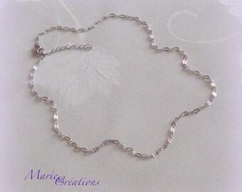 Neck chain / stitch pattern - stainless steel