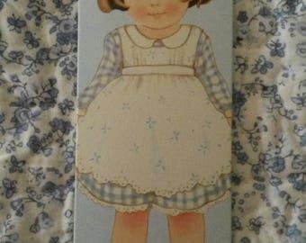 Card tag / girl vintage scrapbooking / embellishment