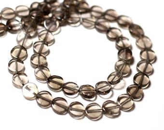 10pc - stone beads - beads 6-7mm - 8741140011892 smoky Quartz