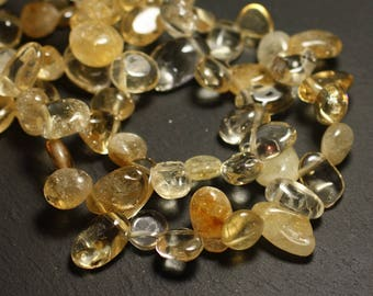 10pc - stone beads - Citrine Chips beads 9-15mm - 4558550028235