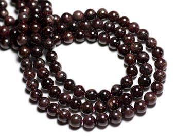 8pc - stone beads - Garnet 7mm - 4558550082220 balls