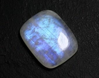 N59 - Cabochon Moonstone Rainbow Rectangle 25x20mm - 8741140002005