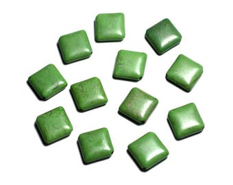 10pc - beads - 18 mm green diamonds - 4558550088284 synthetic Turquoise stone