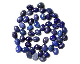Lapis Lazuli cabochons - Oval 8 x 6 mm - 6pc 4558550038449 bag