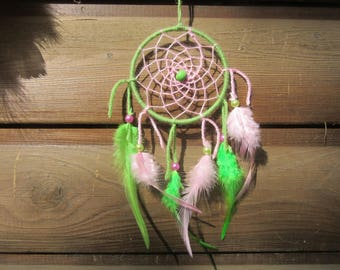 DreamCatcher green and pink / real 30 cm