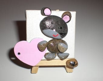 "Painting easel theme ""Pebble d'art"" to be personalized to order"