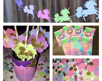 Unicorn Party Pack of 8 Everything Included