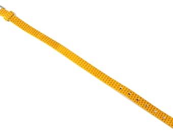 Yellow snakeskin bracelet holder