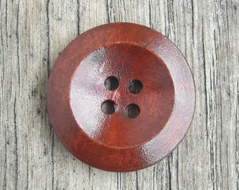 Set of 5 buttons, wood, design, 25 mm / / A21 + A22