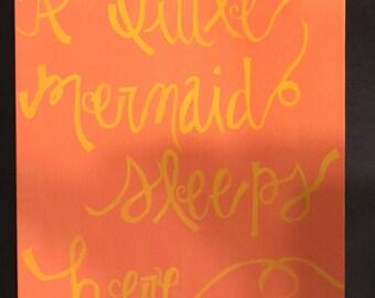 A Little Mermaid Sleeps Here painting