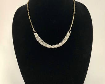 Two Tone Chain Necklace - Chain Necklace - Gold Necklace - Silver Necklace - Two Tone Necklace - Gold and Silver Necklace - Elegant Necklace