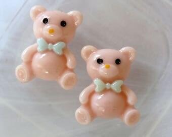 cute pink Teddy bear resin scrapbooking