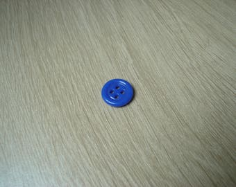 button shape round blue glass