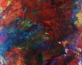 Abstraction Abstract Art abstract painting original abstract painting acrylic on cardboard 170537
