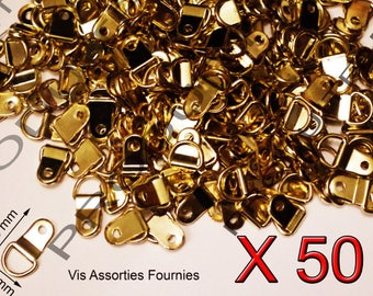 50 clip hooks fastening gold frame mirror, painting, canvas frame, picture frame