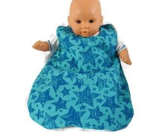 Starry sleeping bag, sleeping bag for dolls, infants up to 36 cm