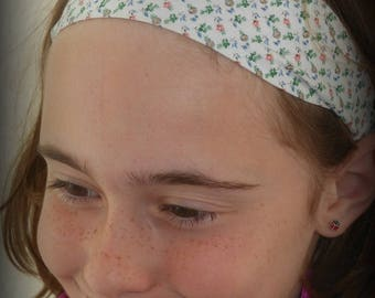 HEADBAND FABRIC WITH SMALL MULTICOLORED FLOWERS