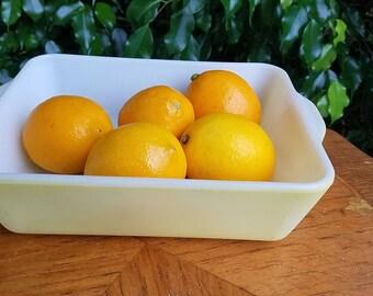 Vintage Pyrex, Yellow Rectangular Pan, Refrigerator Dish, Baking dish