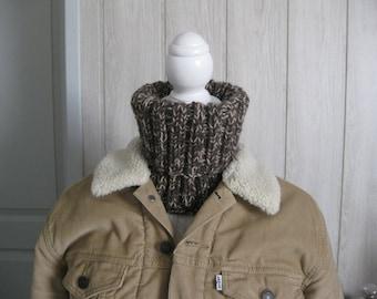 wool snood Turtleneck man and hat