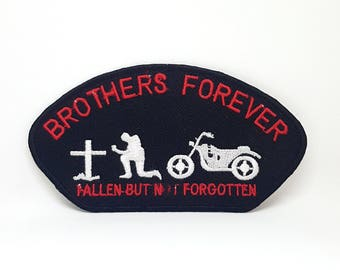 463# BROTHERS FOREVER Heavy Metal Punk Rock Iron/Sew on Embroidered Patch